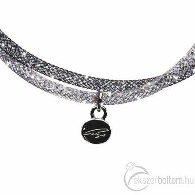 SD2K-BK Stardust by Cango & Rinaldi fekete-ezüst színű karkötő részlete