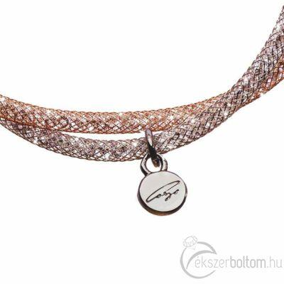 SD2K-BK Stardust by Cango & Rinaldi ezüst-rozé színű karkötő részlete
