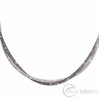 SD2NY-BK Stardust by Cango & Rinaldi fekete-ezüst színű nyaklánc részlete