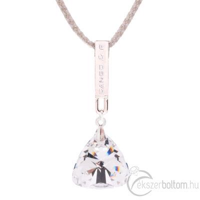 Cango & Rinaldi Triangle Mesh 1 ezüst színű nyaklánc ezüstszín fém dísszel és fehér kristály kővel (részlet)