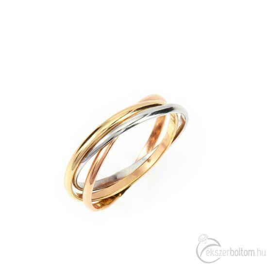 Háromszínű Barátság-gyűrű, 14 kt