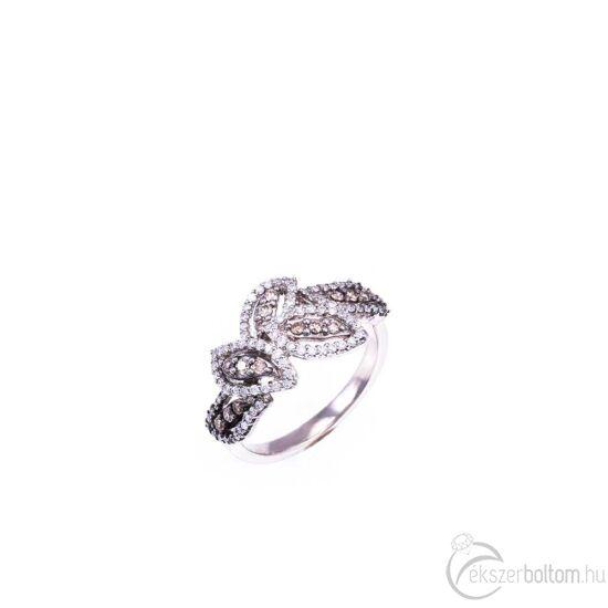 Brilles arany gyűrű színes és fehér gyémántokkal