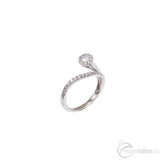 Különleges formájú, brilles arany gyűrű