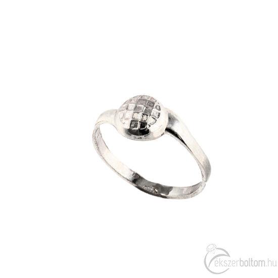Rácsos félgömb ezüst gyűrű