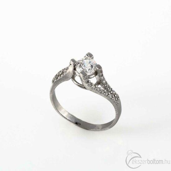 Klasszikus szoliter ezüst gyűrű