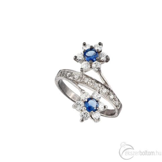 """""""Kétvirág"""" (""""Twoflower"""") ezüst gyűrű"""