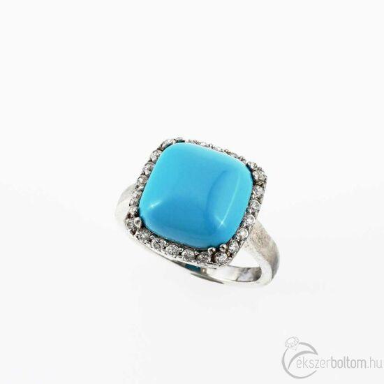 """""""Big Blue"""" ezüst gyűrű"""