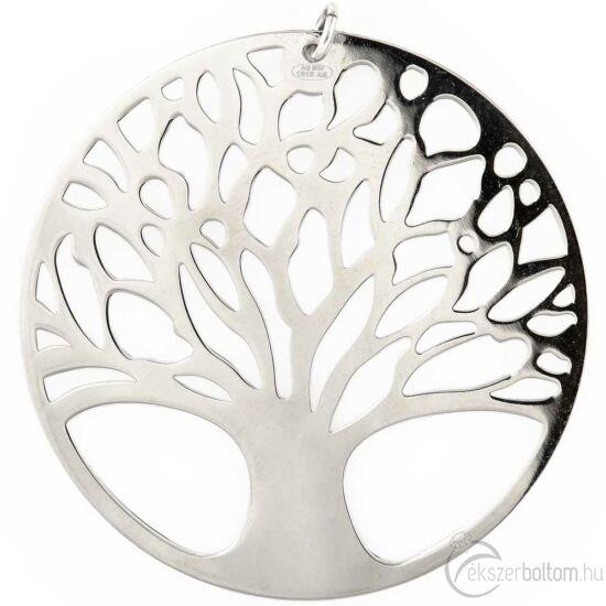 """""""Ródiumozott nagy Életfa"""" ezüst medál"""