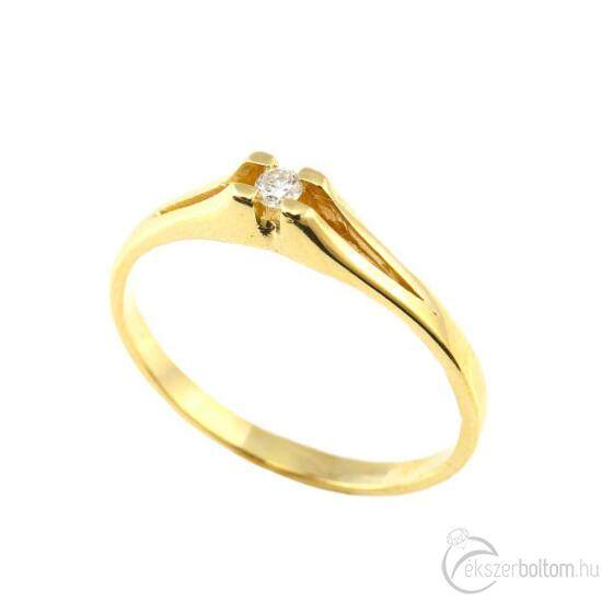 Brillköves aranygyűrű 214
