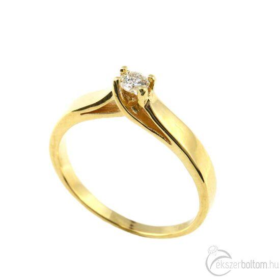 Brillköves aranygyűrű 244