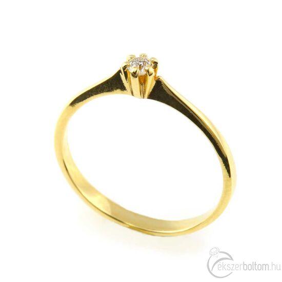 Brillköves aranygyűrű 256