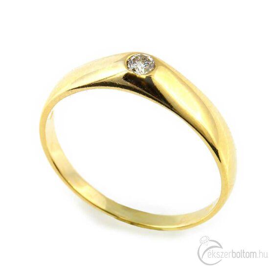 Brillköves aranygyűrű 258