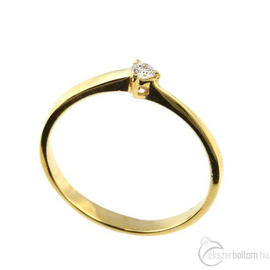 Brillköves aranygyűrű 262
