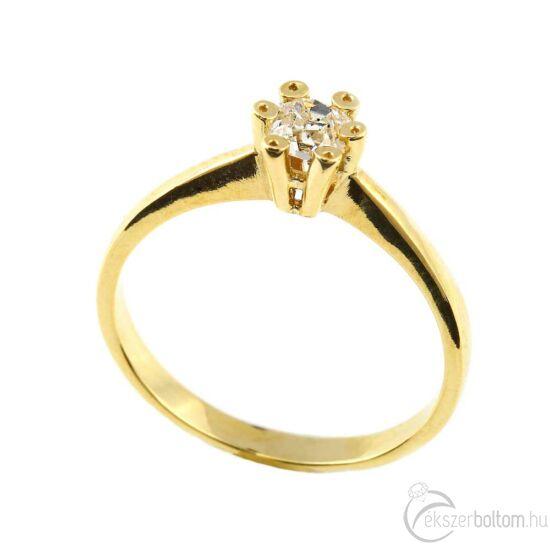 Brillköves aranygyűrű 266