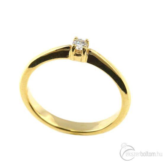 Brillköves aranygyűrű 268