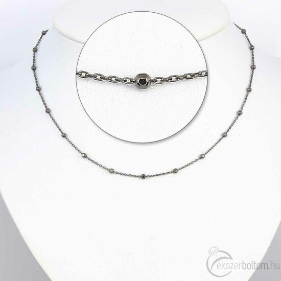 Black Rhodium ezüst bogyós lánc
