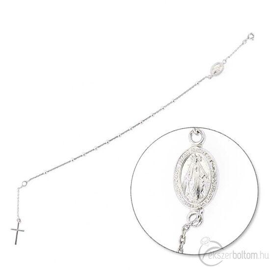 Karláncként hordható ezüst rózsafüzér