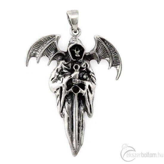 A Halál Angyala antikolt ezüst medál