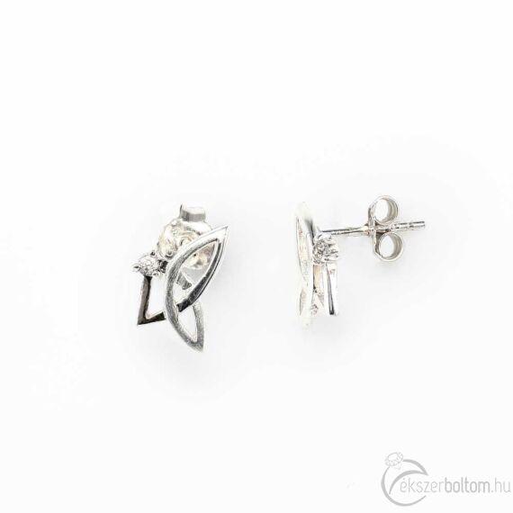 Mattított német ezüst fülbevaló