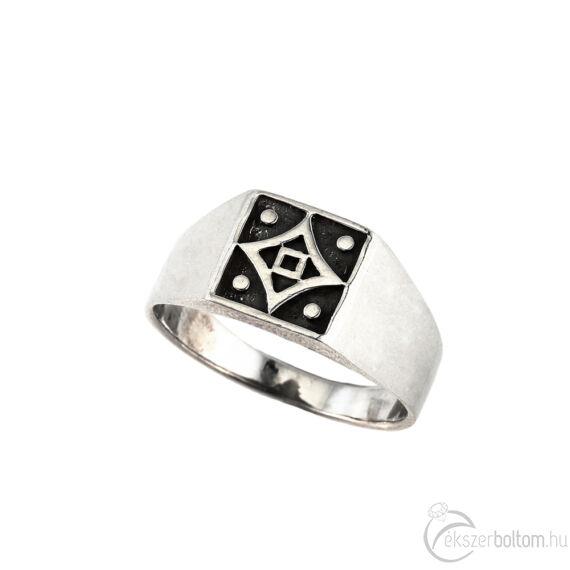 """""""Quadra"""" ezüst gyűrű"""
