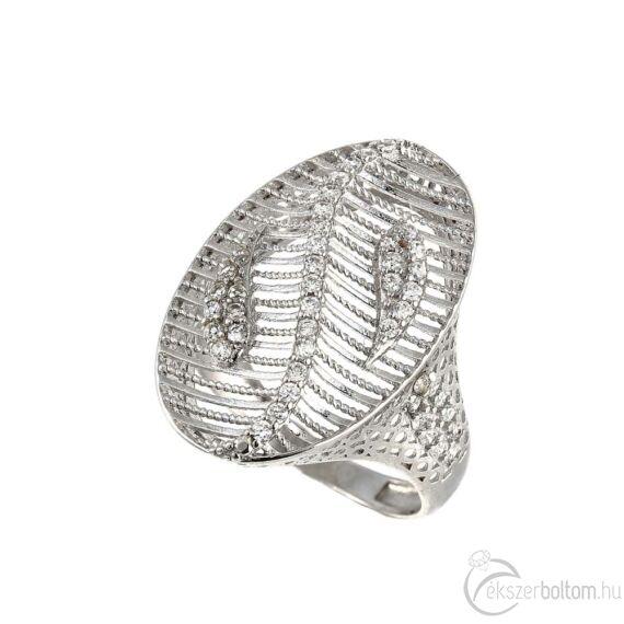 """""""Crystal Lacework"""" ezüst gyűrű"""