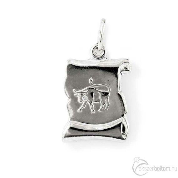 """Taurus"" (Bika) ezüst pergamen lapmedál"