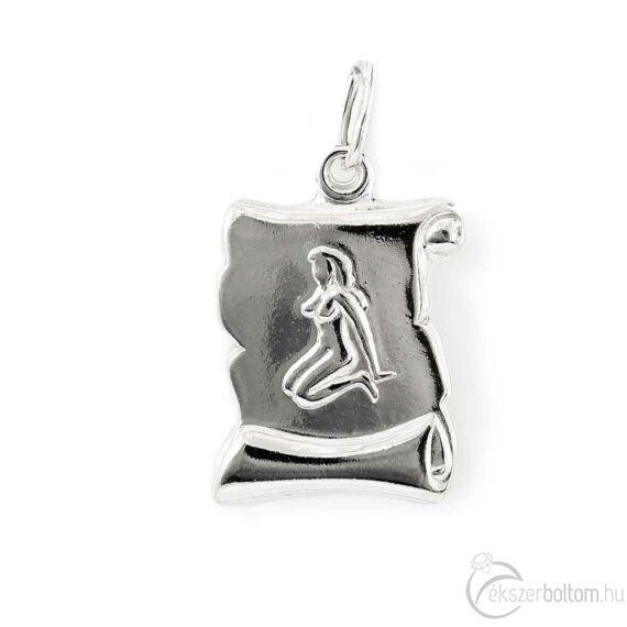 """""""Virgo"""" (Szűz) ezüst pergamen lapmedál"""