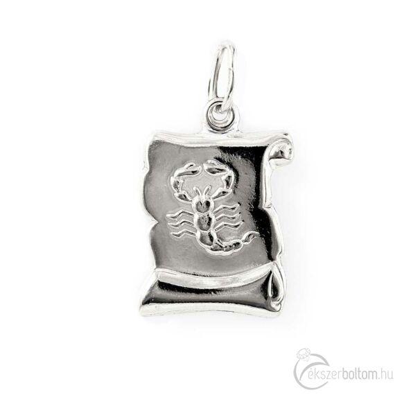 """Scorpius"" (Skorpió) ezüst pergamen lapmedál"