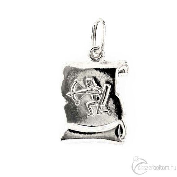 """""""Sagittarius"""" (Nyilas) ezüst pergamen lapmedál"""