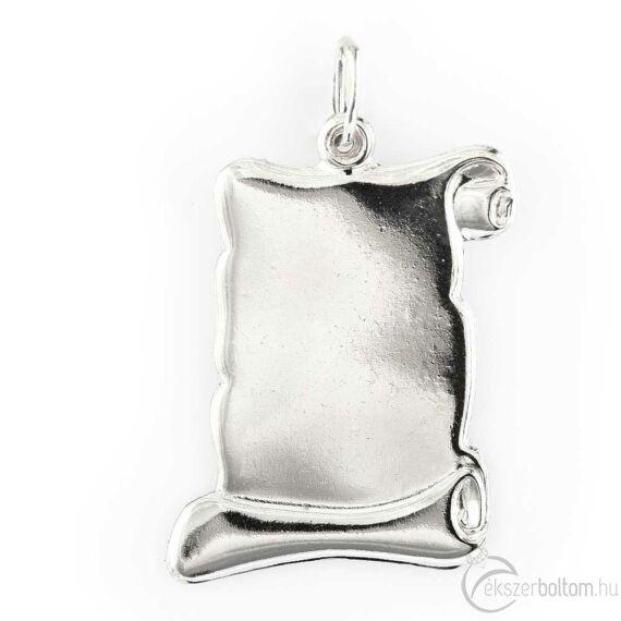 Nagy pergamen ezüst lapmedál