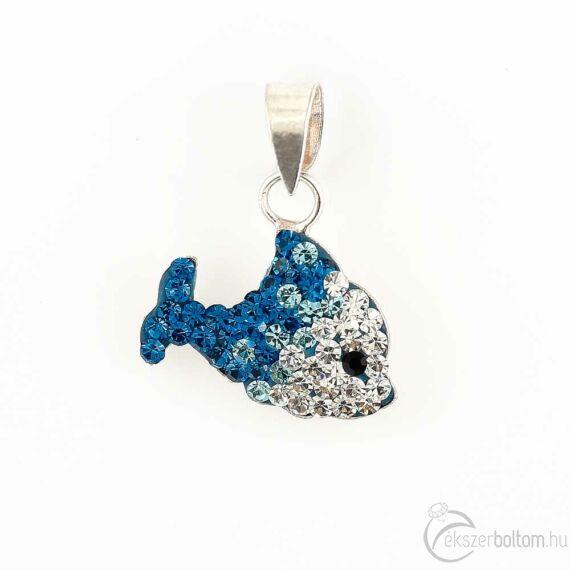 """""""A Boldogság kék cethala"""" ezüst medál"""