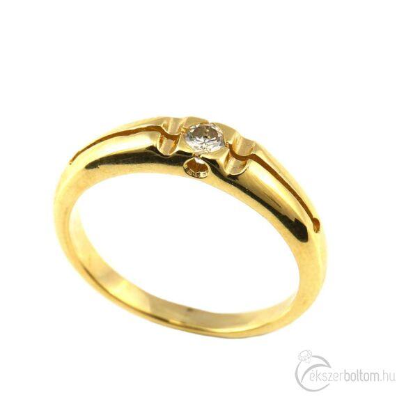 Brillköves aranygyűrű 218