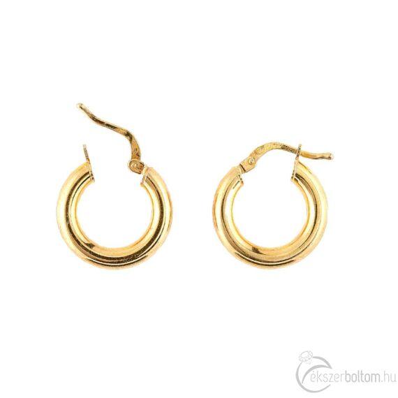 Sárga aranyozott ezüst karika fülbevaló