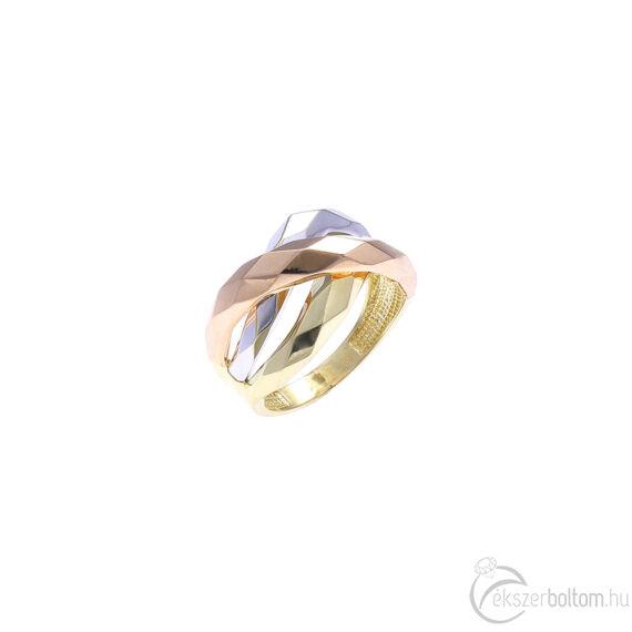 """""""Bilbao"""" háromszínű arany gyűrű"""