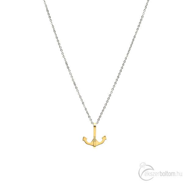 Arany színű kisebb acél horgony medál vékony acél anker lánccal