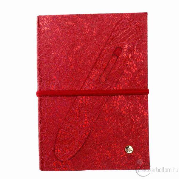 Cango & Rinaldi piros nyomott mintás bőr kötésű öröknaptár