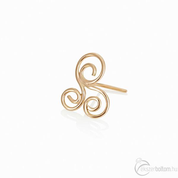 Diversa Triskelion 18 karátos rozé arany orrpiercing