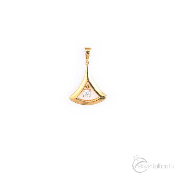 Egyköves sárga 14 karátos arany Aladdin medál