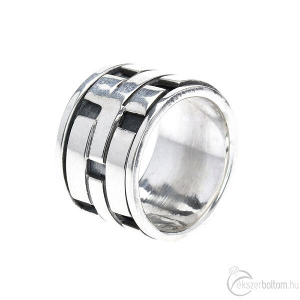 Pola Bata antikolt ezüst forgós gyűrű, 57-es méret