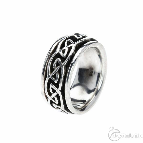 Cúlra Buí (ír gael nyelven: kelta fonatos) ezüst forgós gyűrű