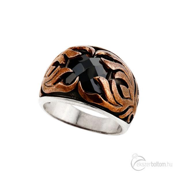 """""""Az Éj Szeme"""" (""""Night Eye"""") ezüst gyűrű"""