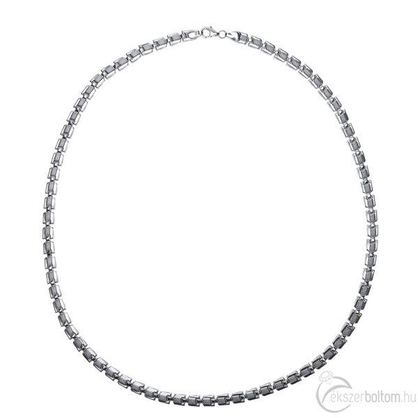 Üreges fűzött ezüst szelvényes lánc