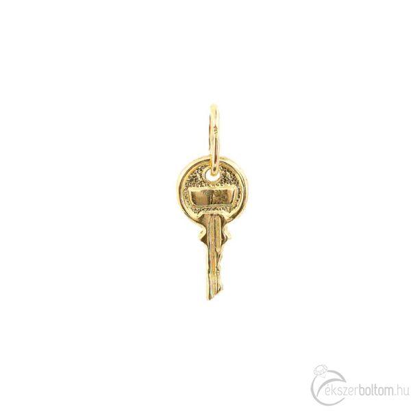 Sárga 14 karátos arany kulcs medál