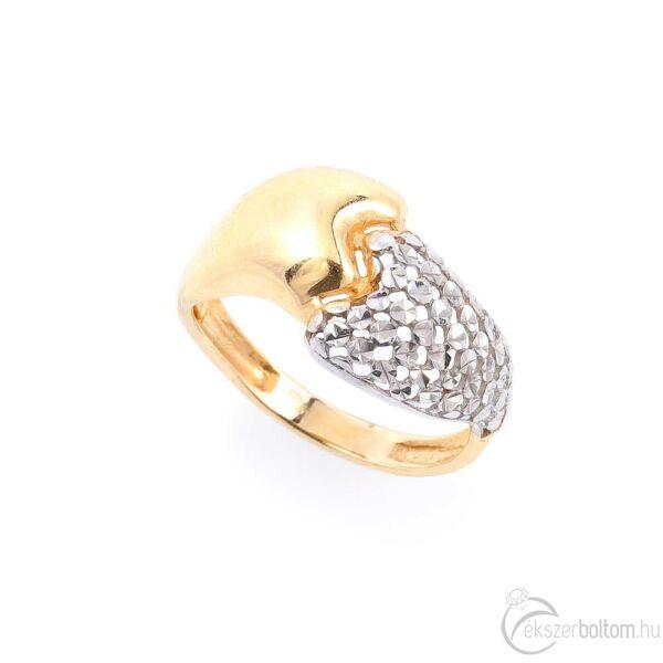 Unity sárga-fehér 14 karátos arany női gyűrű (54-es méret)