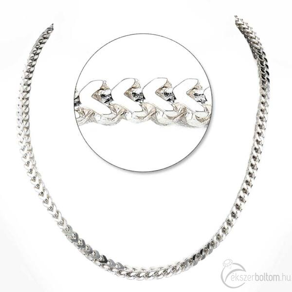 Négylapú Spiga ezüst lánc