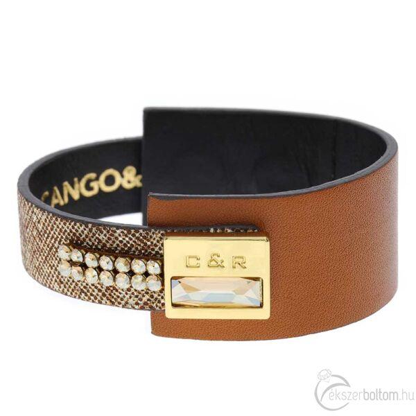 Cango & Rinaldi Magic bordó és színjátszó AB karkötő arany színű díszítéssel, arany színű kristályokkal
