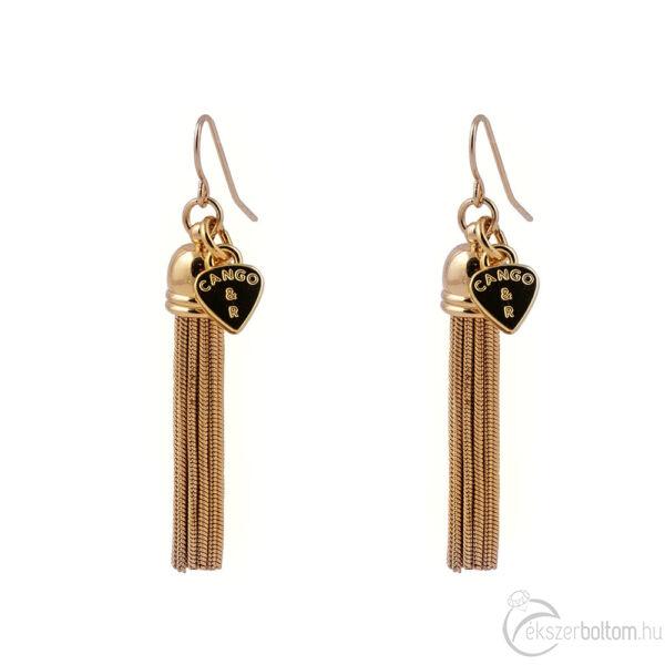 Cango & Rinaldi Peace & Love arany színű, kristály köves fülbevaló