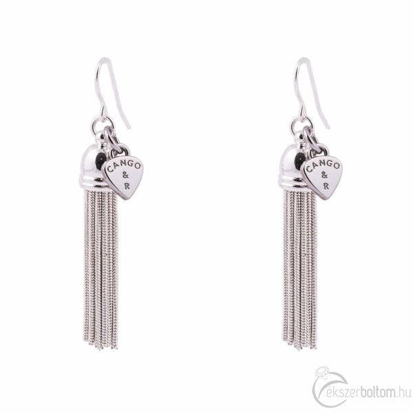 Cango & Rinaldi Peace & Love ezüst színű, kristály köves fülbevaló