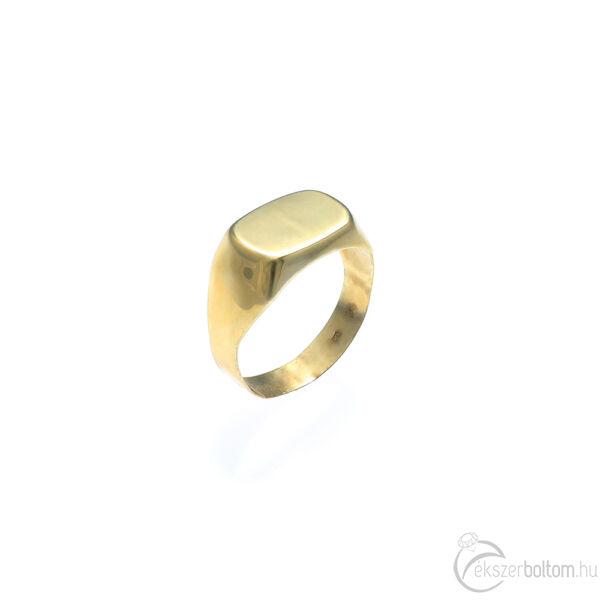 Préselt arany férfi pecsétgyűrű
