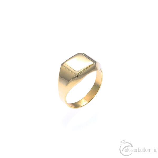 Könnyű, arany, kis méretű, sima férfi pecsétgyűrű